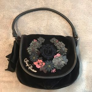 Juicy Couture black velour bag with flowers